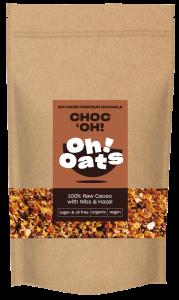 Granola met cacao nibs en hazelnoot